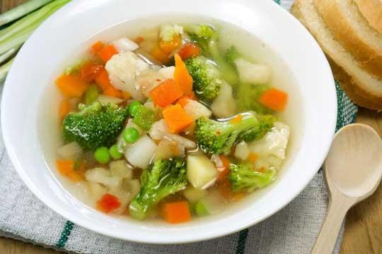 Овощной фитнес-суп