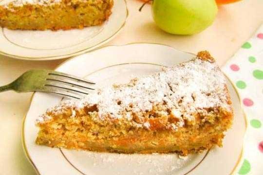 Пирог из тыквы с яблоками